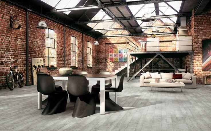 Loft dining room, Decoist. http://www.facebook.com/kenisa.home