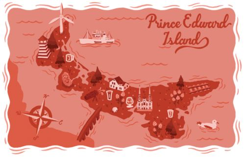 Map of Prince Edward Island Breweries and brewpubs as featured in East Coast Crafted: The Essential Guide to the Beers, Breweries, and Brewpubs of Atlantic Canada.