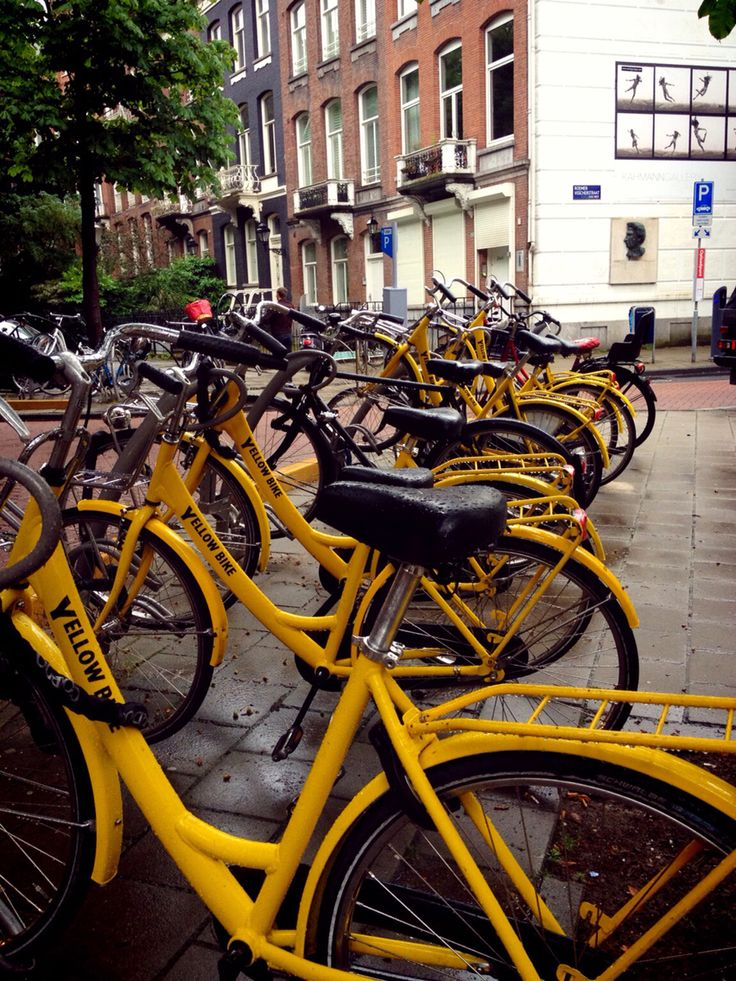 Yellow Bike @Amsterdam