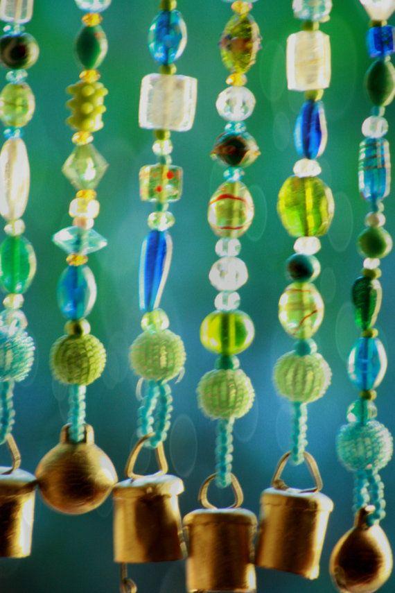 Beaded Vorhänge blau hängende Tür Türglas Perlen Vorhang