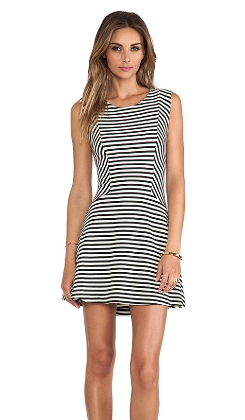 Free people black white stripe under 150 outdoor for Black and white dresses for wedding guests