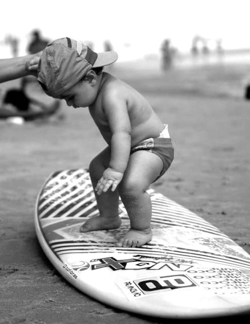 Baby surf. Best thing of my life. Talk about a grom.