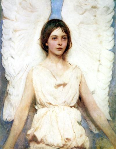 """""""Winged Figure; Angel"""" (1888), Abbott Handerson Thayer"""