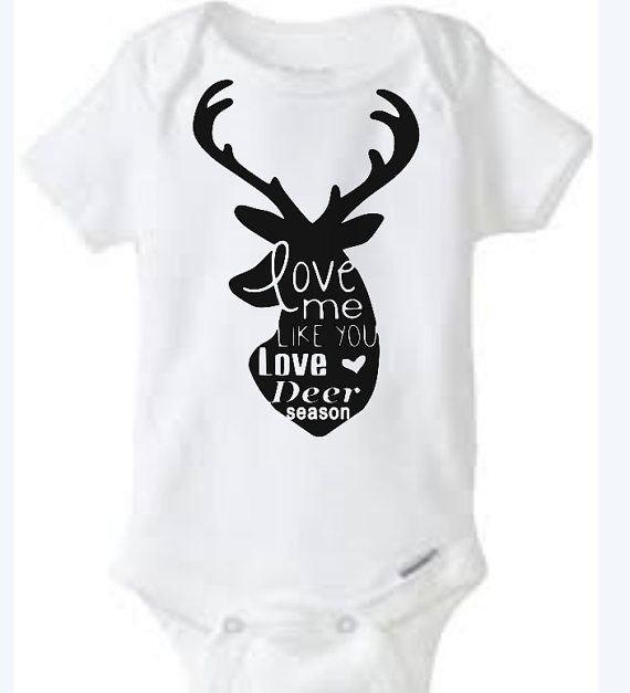 Deer Season Love Baby Girl Boy Toddler Onesie Tshirt