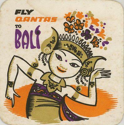 Vintage Coaster: Qantas Bali