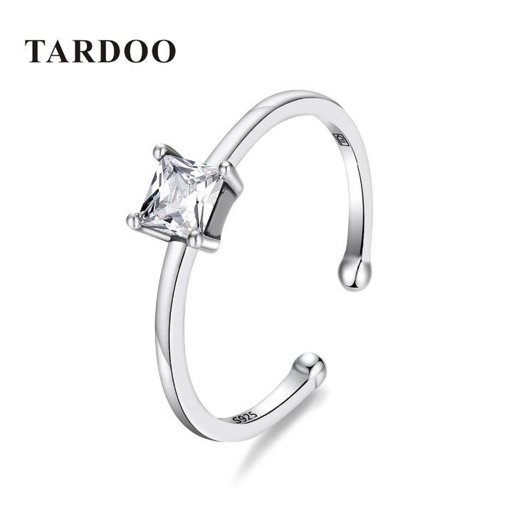 Tardoo Oringinal 925 Серебряные кольца для женщин Элегантный и классический Стиль обручальное Регулируемые кольца серебро 925 ювелирные изделиякупить в магазине Tardoo StoreнаAliExpress