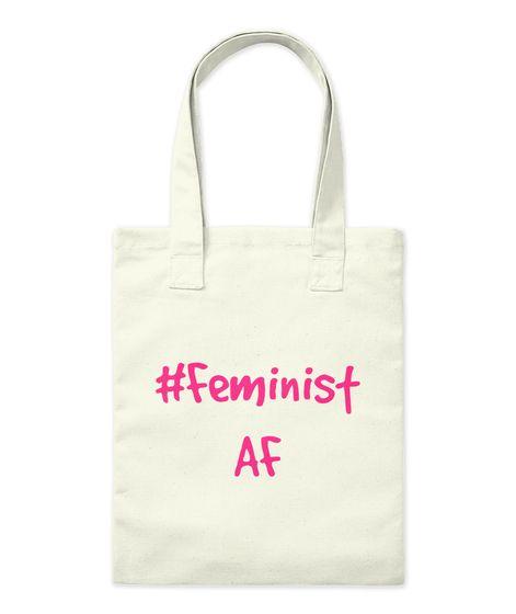 #Feminist  Af Natural Tote Bag Front