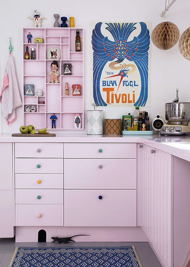 pale pink kitchen #decor #cozinha