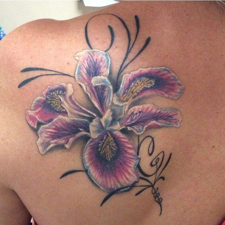 Iris shoulder tattoo