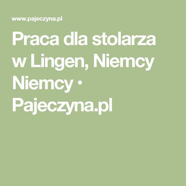 Praca dla stolarza w Lingen, Niemcy Niemcy • Pajeczyna.pl