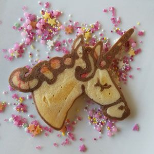 Unicorn pancakes: The number one pancake choice for lovers of rainbows and sparkles!