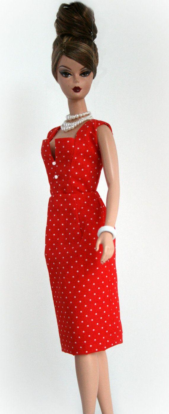 Red and White Polka Dots for Silkstone Barbie by ChicBarbieDesigns