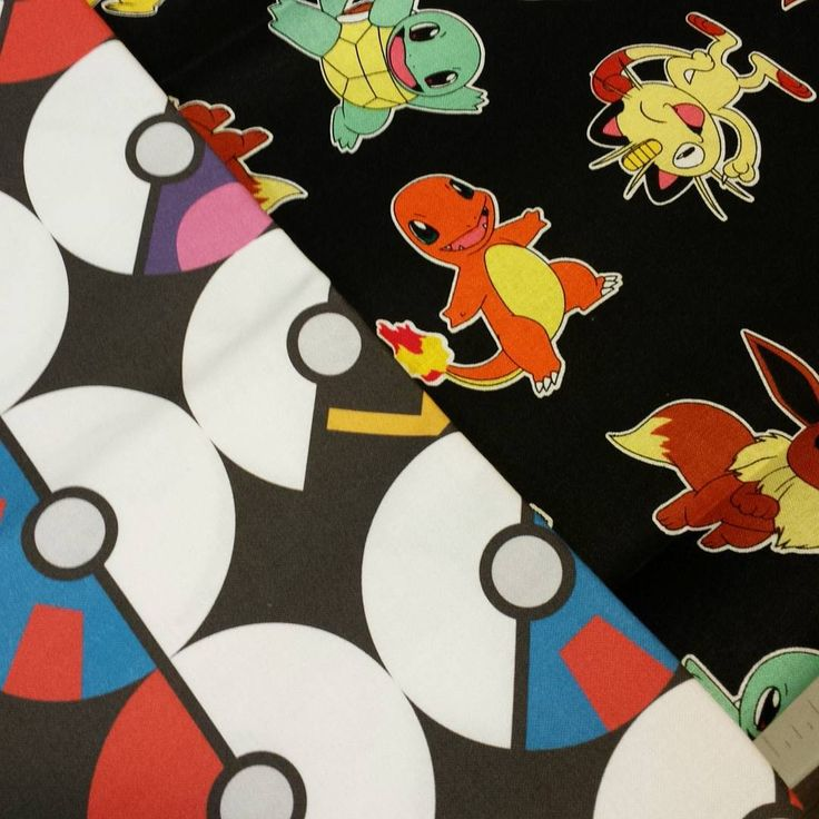 Pokeballs from Spoonflower and Pokemon fabrics make for a great custom order! These two fabrics were combined to create a handmade zipper pouch with their name embroidered on it!