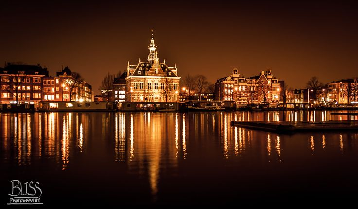 Photo Amstel River at Night by Bliss Kelley on 500px