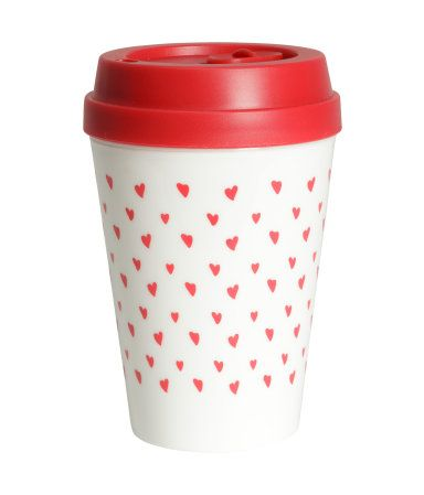 Give them some love for when they need it the most with this heart-print travel mug. | H&M Gifts