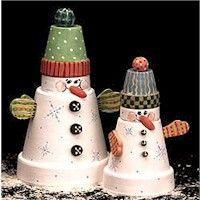 Snowmen Duo Craft: Christmas Crafts, Snowman Crafts, Snowman Duo, Snowmen Duo, Flowers Pots, Duo Crafts, Pots Crafts, Terracotta, Clay Pots