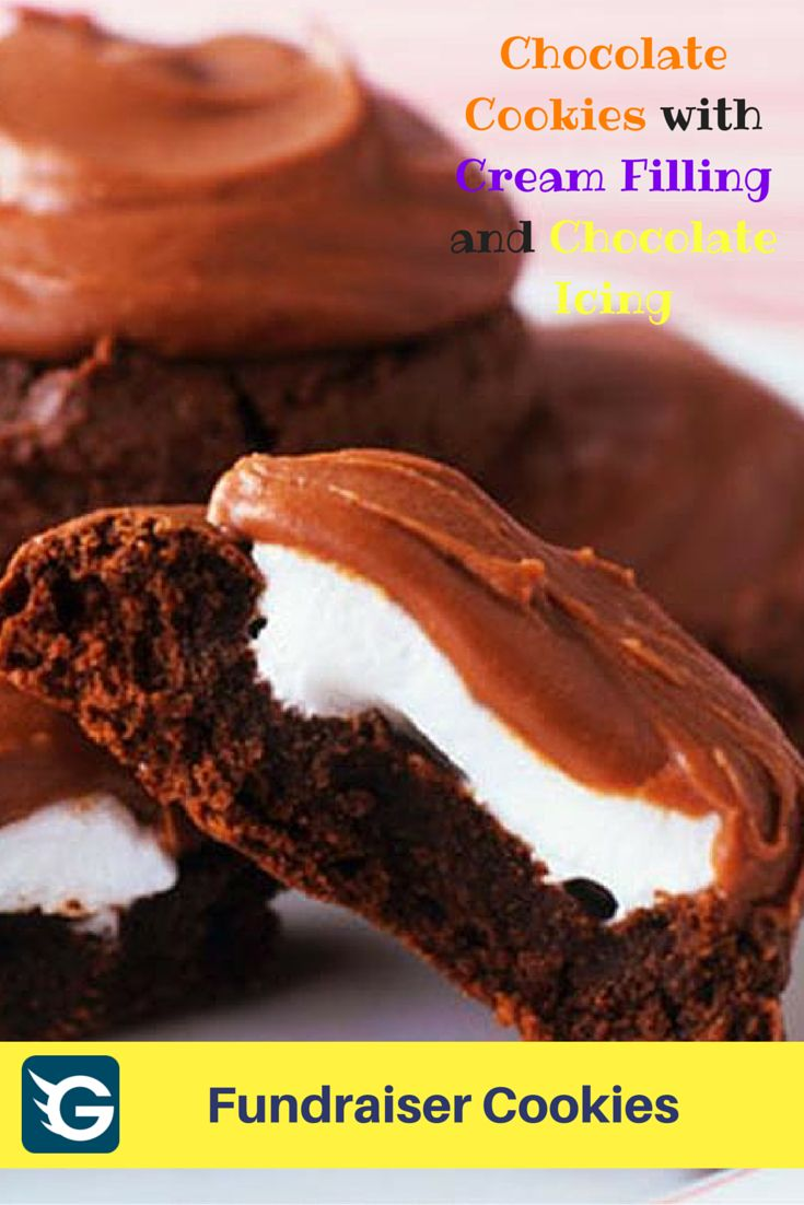 Chocolate cookies with cream filling recipe