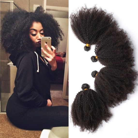 """Natural hair """" 6A Mongolian Afro Kinky Curly Hair 4pcs by SweetAmoretto"""""""