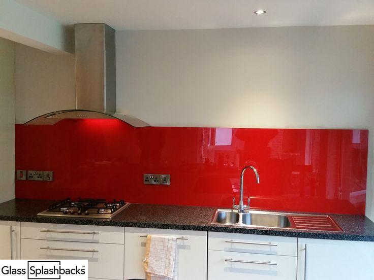 21 best Red \ Orange Glass splashbacks images on Pinterest - glas spritzschutz küche