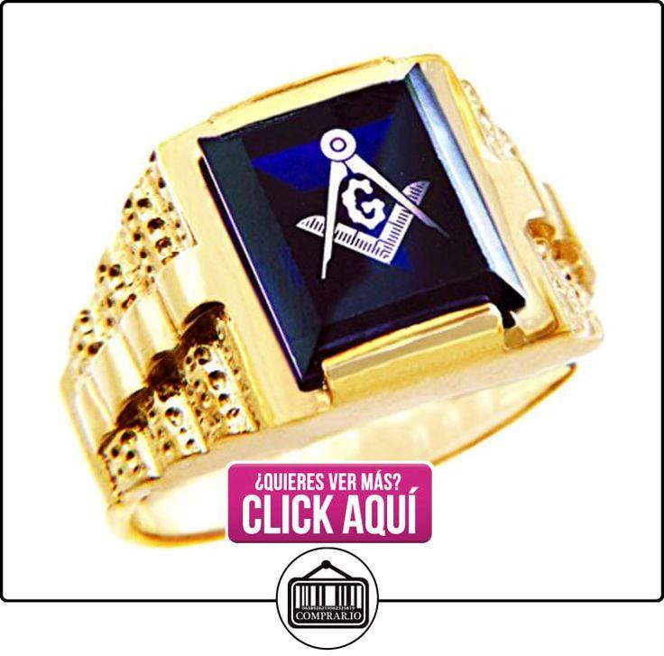 Pequeños Tesoros - Anillos Hombres Alianza De Boda 10 Kt Oro 471/1000 Francmasón Azul Oro Masónico  ✿ Joyas para hombres especiales - lujo ✿ ▬► Ver oferta: http://comprar.io/goto/B0127I71LI