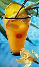 SUMMER NON ALCOHOLIC DRING RECIPE[ad#ads-1]  Ingredients: 4 strawberries 2 oz pineapple juice 3 oz orange juice 1/2 oz kiwi syrup 2 tbsp melons Preparation: Blend until smooth. Add half a glassful of crushed ice, and blend again briefly. Pour into a pina colada glass, and garnish with fruit. Serve with straws.