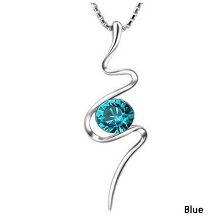 Mode et classique enroulement serpent en forme de femmes collier #pendentif