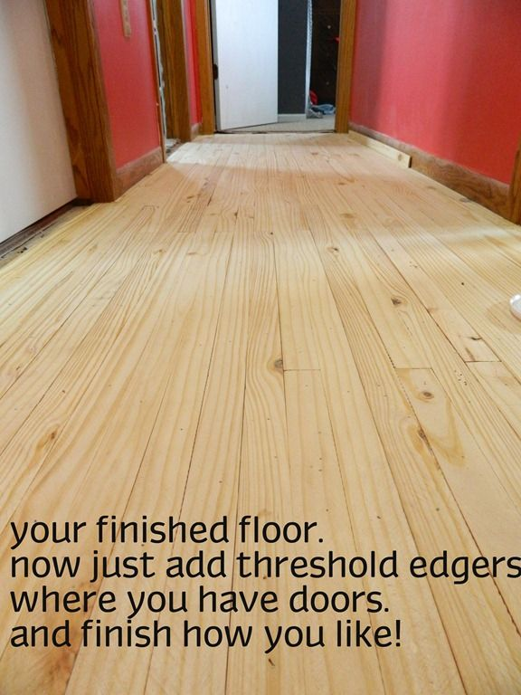 Cheap flooring idea lath floor tutorial the family the for Cheap wood flooring ideas