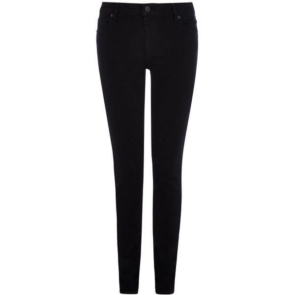 Warehouse Powerhold Skinny Long (92 CAD) ❤ liked on Polyvore featuring jeans, pants, bottoms, black, pants/skirts, black jeans, black denim skinny jeans, mens jeans, black slim fit jeans and skinny fit jeans