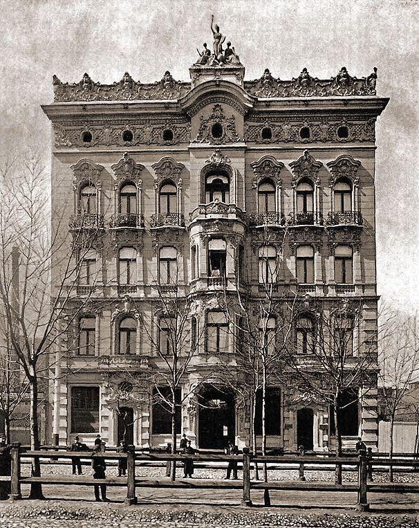 kamienica Rosenbluma, Dawid Lande, ul Spacerowa 21 (dziś. Al. Kościuszki). 1902r. KIEDYŚ.