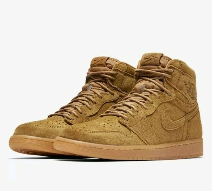 Nike Air Jordan 1 Retro High Og Wheat Golden Harvest Gold 555088