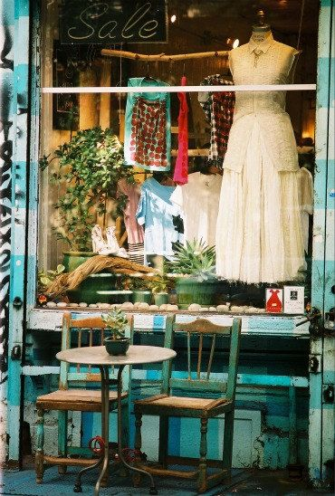 New York City, Lower East Side Vintage Store Front