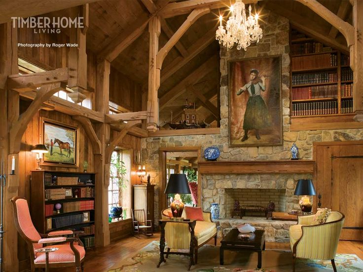 Home Libraries Timber Frame Houses And Libraries On Pinterest