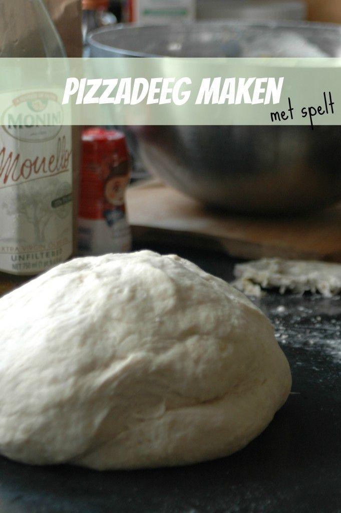 Het lekkerste recept voor pizzadeeg met spelt. Zelf pizza maken is echt niet moeilijk.