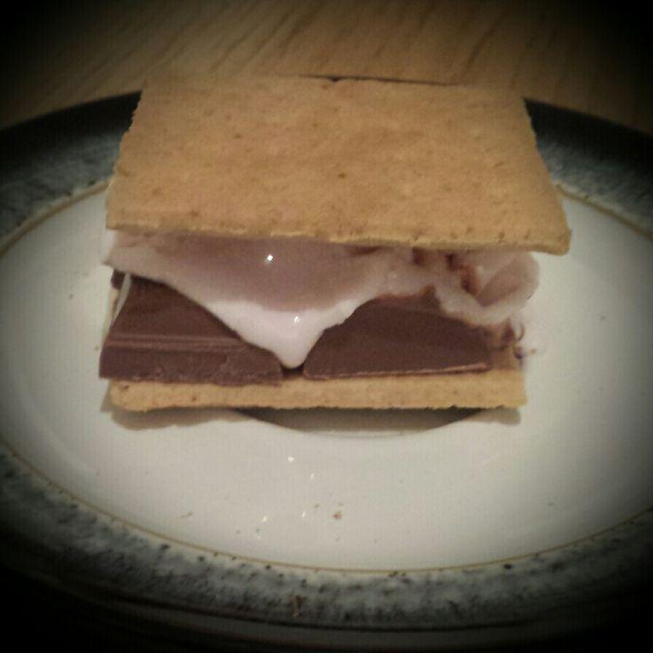 Homemade smore  #chocolate #marshmallow #wscrafting @whitestuff