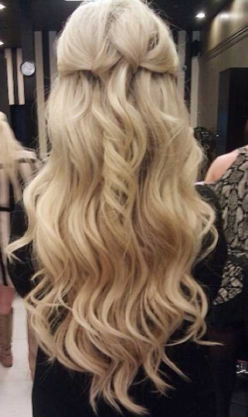 Long Blonde Hair From The Back Curly Hairstyles For Long
