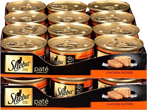 Made with real poultry as the first ingredient SHEBA Pate in Natural Juices Chicken Entrée Canned Cat Food satisfies even the pickiest eaters. Our wholesome corn-free cat food contains no wheat or ...