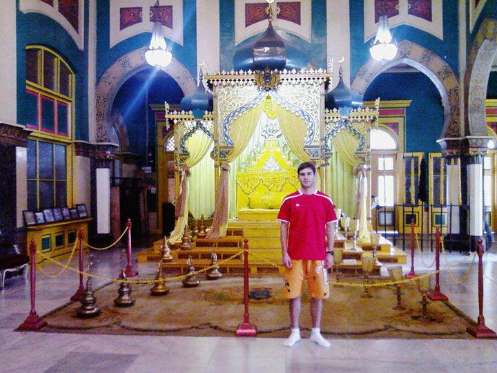 Interior do palácio do sultão (Foto: Matheus Pinheiro de Oliveira e Silva)