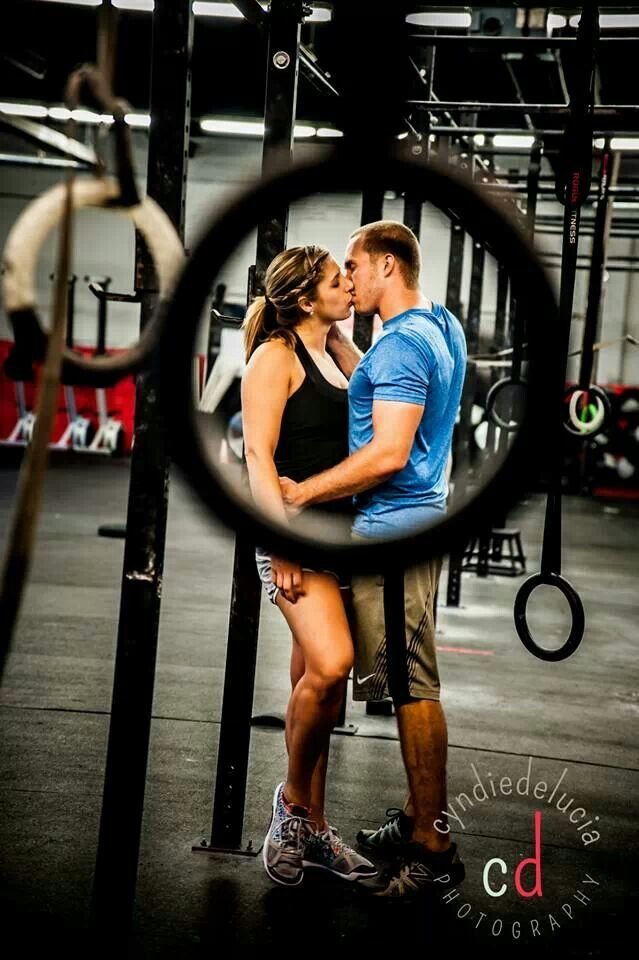 Crossfit engagement pic. this will be me and my husband