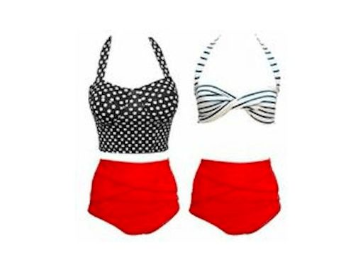 £14.99 for a red high waisted bikini - delivery included