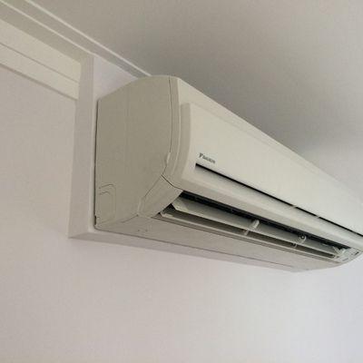 Caixa de gesso para embutir as tubulações do ar condicionado para o forro de gesso.