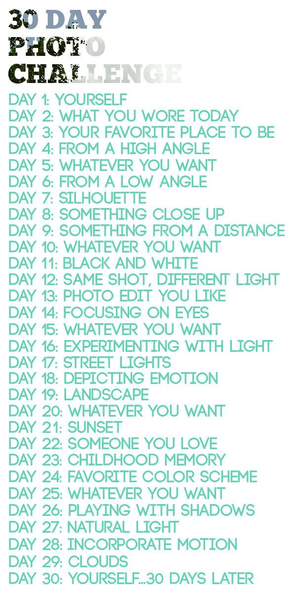 I recently shared my idea for a new series based onchallenges. I'll definitely be partaking in the 30 Day Photo Challenge next. I would REALLY love to shoot f