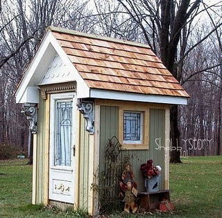 Shabby garden shed