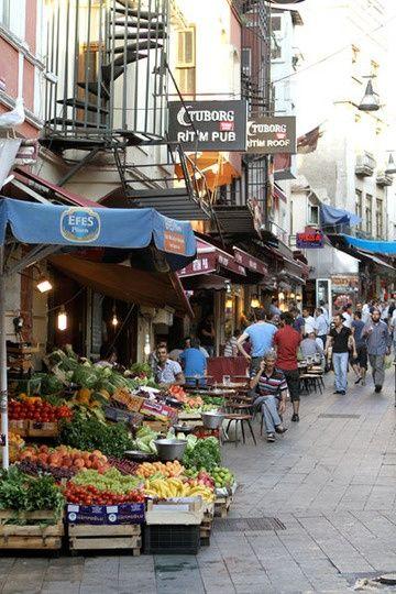 Istanbul food markets, Turkey