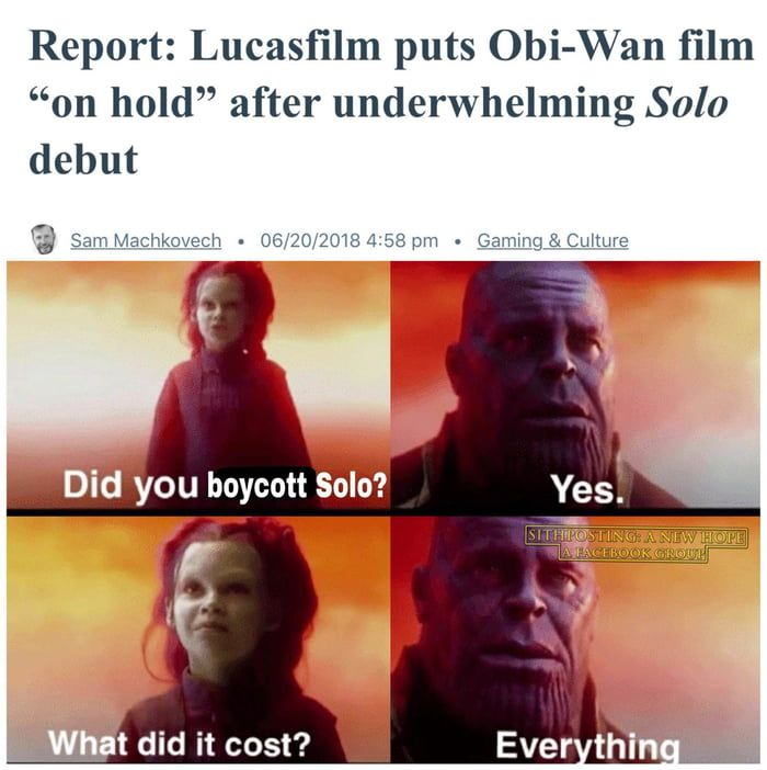 It S On Us Everyone 9gag Star Wars Humor Star Wars Memes Memes