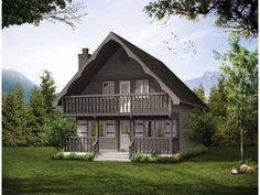 Plano de chalet estilo Country con 3 dormitorios