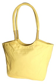 Sunshine Yellow Canvas Tote With Beaded Handle :   Rs. 499.00