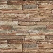 Behang met houten planken