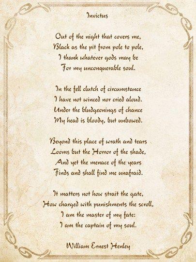 Invictus Poem art print