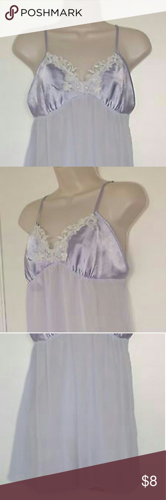 "Women Chemise Babydoll Sleepwear nightgown Bridal IN EXCELLENT USED CONDITION  Approximate Measurements: Taken Lying in a Flat surface unstretched  18"" Armpit to Armpit,   29"" Length from Top of  Back to Hem  Please inspect photos for details and to judge quality.  From a Smoke and Pet Free Home Apt. 9 Intimates & Sleepwear Chemises & Slips"