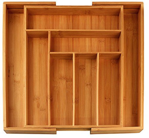 Bamboo Expandable Utility-Drawer Utensil Organizer - 8 Compartments. $19.99. Be sure to measure your drawer first!